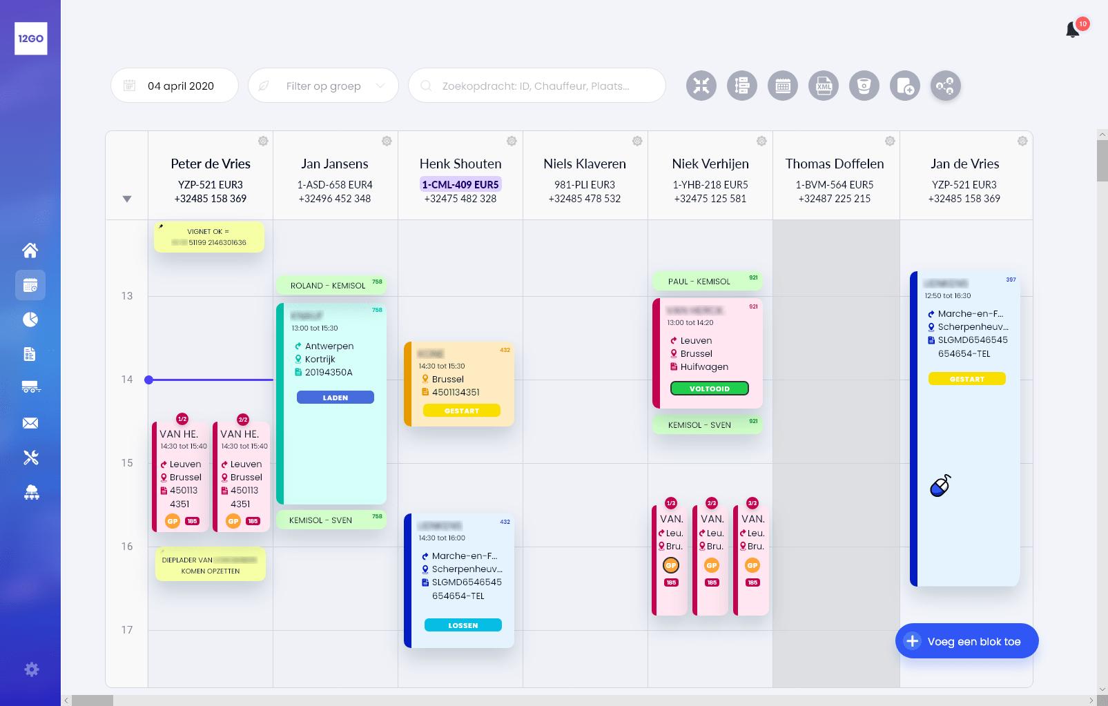 B-Planning Closed Navigation Bar